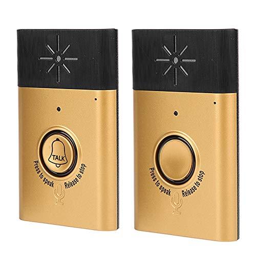 Drahtlose Gegensprechanlage Türklingel Dual Voice, Smart Türklingel 2-Wege-Gespräch Einfache Installation Niederfrequenz-Entstörschutz für die Sicherheit zu Hause