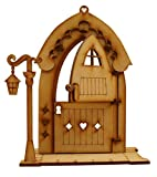 Puerta de hada con diseño de pan de jengibre en 3D para puerta de hadas, con farol, llave y...