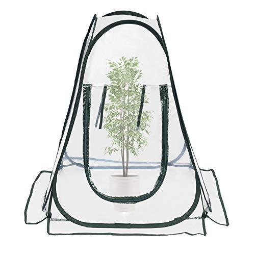 serres de culture en PVC pour intérieur ou extérieur Mini serre de jardin, petite couverture portable pour plantes de jardin 70 x 70 x 80 cm