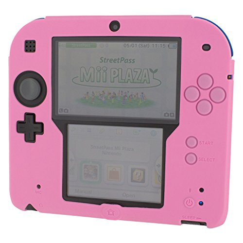 Zed Labz soft silicone gel protective cover rubber bumper case for Nintendo 2DS - Pink