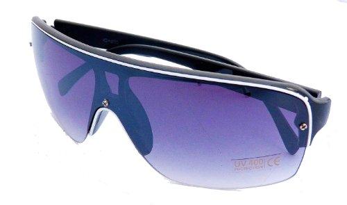 Sonnenbrillen Herren Damen Oneshade Sonnen-brille verpiegelter Farbverlauf