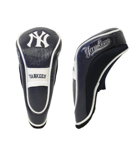 Team Golf MLB New York Yankees Hybrid Golf Club Headcover, Hook-and-Loop Closure, Velour lined for Extra Club Protection