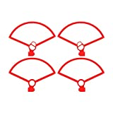 YIJIABINGRU 4pcs Garde Hélice for DJI Mini Drone Mavic Anti-Collision Hélice Protector Anneau Quick Release RC Quadcopter Accessoires Parties de Drone (Color : Red)