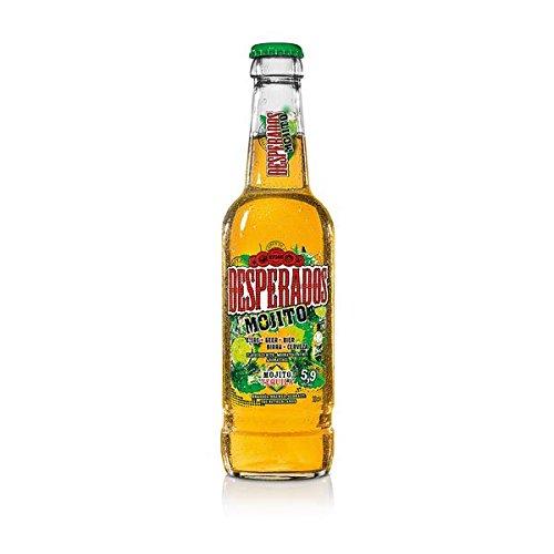 12 Flaschen Desperados Mojito Orginal a 0,33l incl. 0,96€ Mehrweg Pfand Bier Flavoured with Tequilla Alkoholgehalt 5,9% Vol.