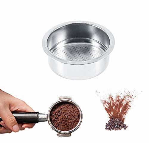Koffie Filter, Koffie 2 Cup 51mm Niet onder druk Filter Mand Voor Breville Delonghi Krups GUSTINO