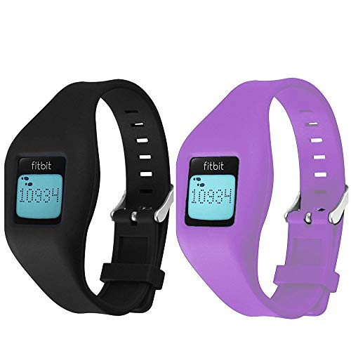 Fitbit Zip Band, HWHMH Newest Replacement Band for Fitbit Zip Accessory Wristband Bracelet (No tracker) (Black&Purple)