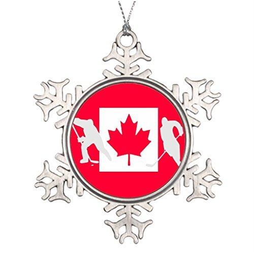 VinMea Snowflake Metal Ornament Xmas Trees Decorated Canada Xmas Tree Decoration