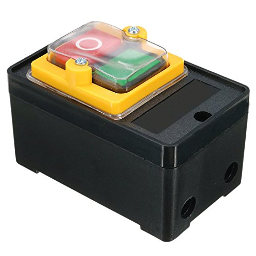 TOOGOO(R) AC 220/380V On/Off Water Proof Push Button Switch KAO-5 for Drill Motor Machine