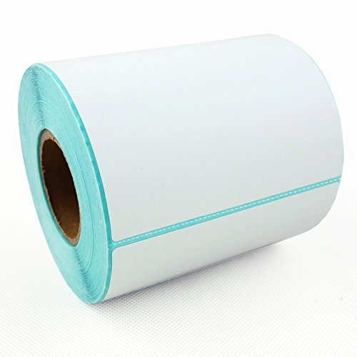 DGdolph 3 Roll Sticker Paper Direct Thermal Paper Self-Adhesive 57x30mm for PAPERANG White
