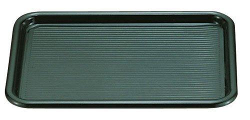 曙産業 トレー 角 ブラック 大 14吋 日本製 業務用品 滑らず倒れにくい マットを外して洗える マジックトレー MT-003