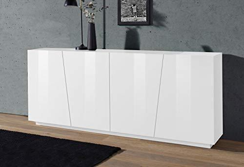 Web Convenienza Sprint Madia 4 Ante Bianco Laccato Lucido 200 cm