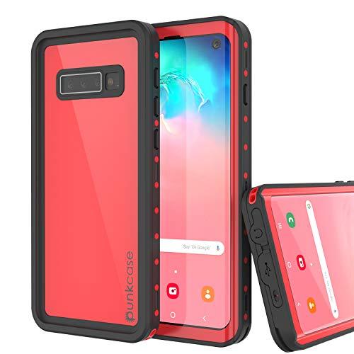 PunkCase S10 Waterproof Case [StudStar Series] [Slim Fit] [IP68 Certified] [Shockproof] [Dirtproof] [Snowproof] Armor Cover Compatible W/Samsung Galaxy S10 [Red]
