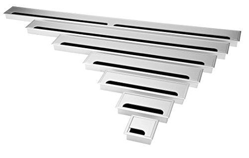 Exklusive 80mm Aluminium Kabeldurchführung silber (160mm)
