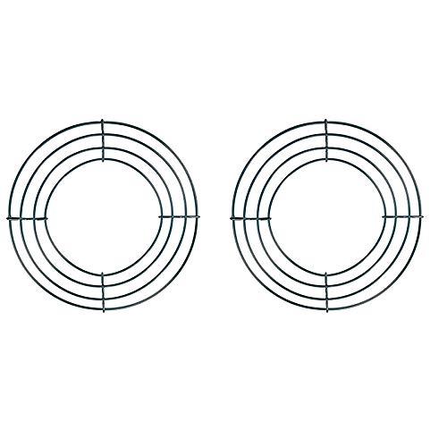 Bayda - Guirnaldas de alambre de hierro con marco de alambre de corona, 2 unidades