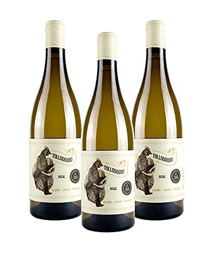 Vins&Co Barcelona Vino Tollodouro Rosal - D.O. Rías Baixas – Pack 3 botellas Vino Tollodouro Rosal – 3 Botellas de 750 ml – Crianza: 6 meses - 13% Alcohol - 750 ml