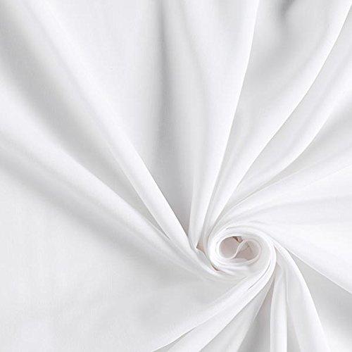 Viskosestoff gewebt Fabulous – Weiss — Meterware ab 0,5m — zum Nähen von Blusen, Hemden und Kleider