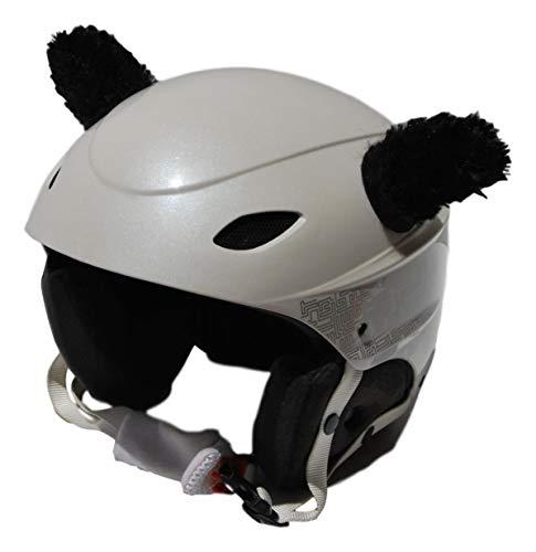 PINK YAK oren van zwart pluche voor skihelm, snowboard, motorfiets, fiets, skateboard, skateboard