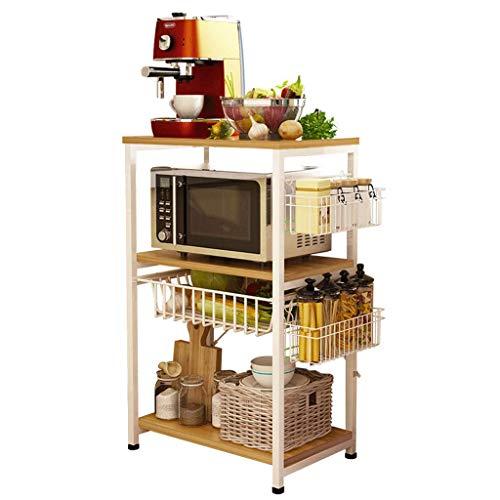 A J S Shelf ZTH Bodenständer, Mehrlagiges Ablagefach, Multifunktionales Küchenablagefach, Mikrowellen-Ablagefach A+