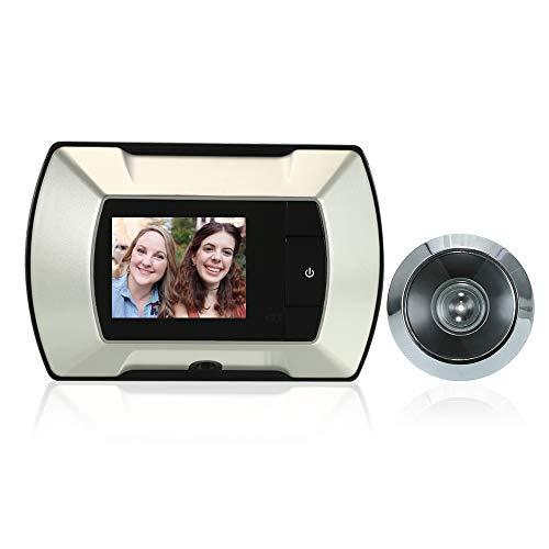 Lepeuxi 2,4 tum TFT LCD visuell bildskärm dörr titthål trådlös tittare kamera digital elektrisk titthål dörrklocka monitor