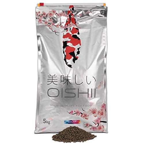 Oishii Koi Company Color • 5kg Premium Koifutter 4mm schwimmend • Koi Frühlingsfutter, Sommerfutter & Herbstfutter • Farbfutter für strahlende & glänzende Koi