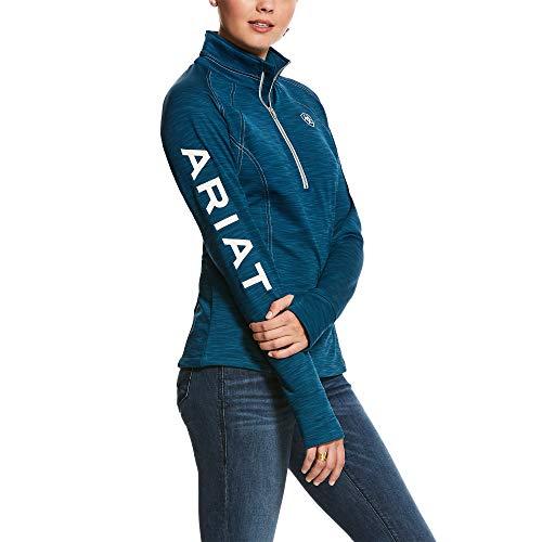 ARIAT Women's Tek Team 1/2 Zip Sweatshirt Dream_Teal_Heather Size Medium
