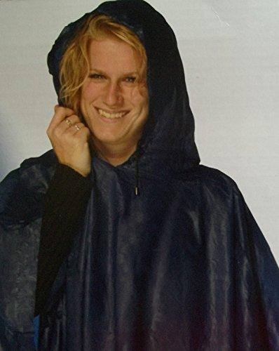 Regen-Poncho-Cape-Umhang- Jacke blau für Radfahrer Angler Regen-abweisend Damen Herren Fahrrad Angeln Camping wasserabweisend vom Sachsen Versand