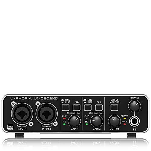 Behringer U-PHORIA UMC202HD Interface de audio/midi usb