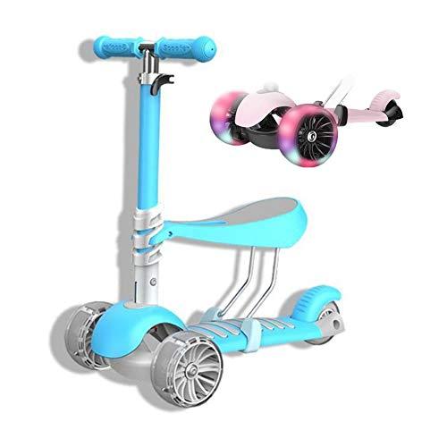 GZZ 2-3-6 Jahre Altes Baby Kann EIN Dreirädriges Laufrad Fahren DREI-in-Eins-Baby-Walker-Fahrt Das Erste Fahrrad Für Kinder Jungen Mädchen Baby Walking Bike (Color : Blue)