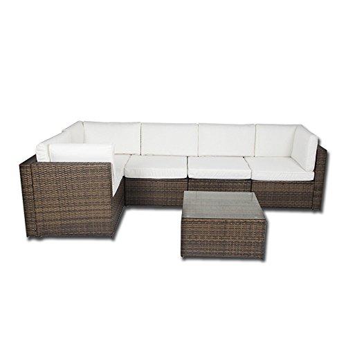 Forma de L esquina ratán muebles de jardín juego de sofá al...
