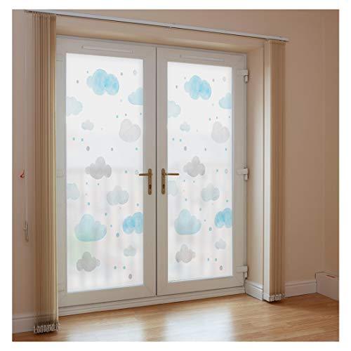 No-Glue raamfolie statische decoratieve raambekleding mat ondoorzichtig verduistering voor alle soorten glad glas Thuis kamer badkamer Office keuken
