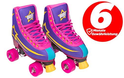 Bliss Rollerskates Mädchen Rollschuhe Damen - Indoor Outdoor Roller Skates Größe 33-40 Rollschuh Rockstar Edition (42)