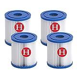 GFKJ Cartucho de filtro de piscina tipo H, para Intex H, filtro de piscina, accesorio para limpieza de piscinas, repuesto para spa, filtro de cartucho de papel (4)