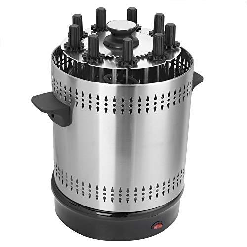Vertikaler Tischgrill Edelstahl-Grill Rauchfreie Grillmaschine Schaschlikgrill Elektrogrill für Döner Schaschlik Gemüse Hähnchen Gyros oder Dönerspieße(EU Stecker)