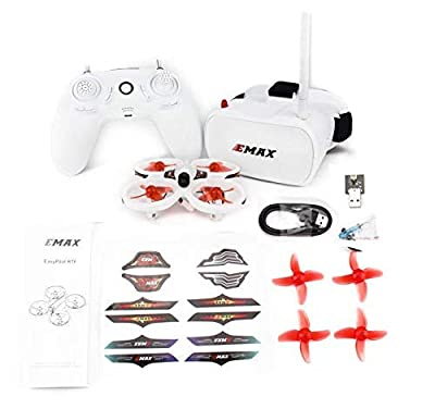 EMAX EZ Pilot FPV Drone RTF Kit with Real FPV for Kids and Beginners 1 stick Flying FPV 5.8G Goggles