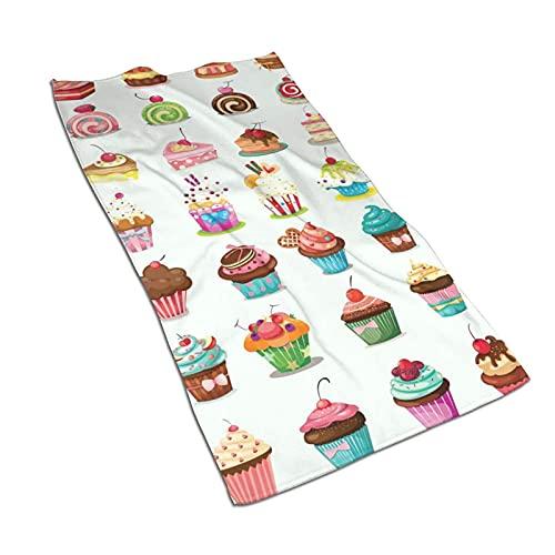 DJNGN Toallas de Plato Cup Cakes Caramelos Toallas de Cocina para secar, Limpiar, cocinar, Hornear