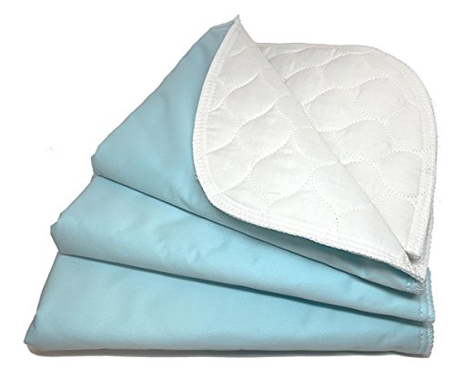 RMS Ultra Soft 4-Layer Washable and Reusable Incontinence Bed Pad - Waterproof Bed Pads, 18'X24' (3 Pack)