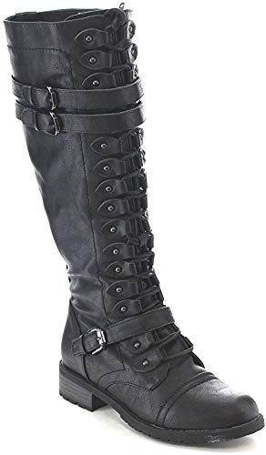 cool knee high lace up boots