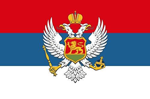 magFlags Flagge: Large Montenegro 1905?1918 | King of Montenegro 1900-1918 | Re de Montenegro 1900-1918 | ???? ?????? ?????????? 1900-1918 | Querformat Fahne | 1.35m² | 90x150cm » FA