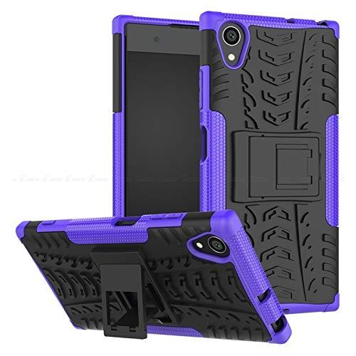 QiuKui For Sony Xperia 10 XZS XZ1 XZ2 Compacto XZ3, Caja del teléfono de TPU PC Armadura Cubierta del Soporte for Sony Xperia XA1 XA2 Plus Ultra XA XZ Premium L3 L2 L1