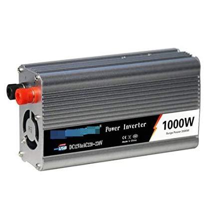 Inversor de energía 12V 24V a 110V 220V 1000W Convertidor de automóviles de grado profesional 12V a 240V, simplemente carga su computadora portátil, teléfono, almohadilla, tableta, cámara, PSP, etc.