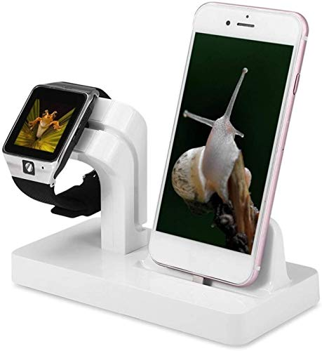 Gymqian 2 en 1 Cargador Inalámbrico, Soporte de Carga Inalámbrico de 15 Vatios, para Iphone para Series Y Airpods Pro, White Carga directa inalámbrica/Blanco