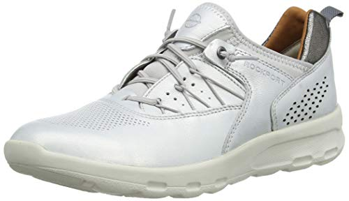 Rockport Women's Trainers, Silver Silver 001, 4.5 Big Kid