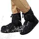 YYLSHCYHLI Overshoes Zapatos de Lluvia Protector Impermeable de 360 Grados para Hombres y Mujeres Los Zapatos de Lluvia se Pueden reutilizar SizeM Black