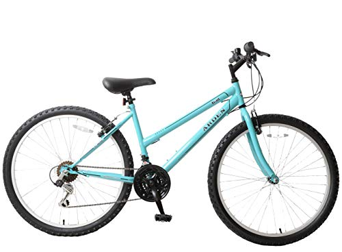 Ammaco. Arden Trail 26' Wheel Womens Ladies Mountain Bike 16' Frame 21 Speed Light Blue