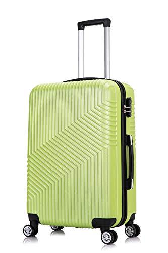 Frentree Hardschalen koffer 02 | Trolley reiskoffer handbagage met 4 rollen M-L-XL-set naar keuze, appelgroen (g. groen) (groen) - 02G.GN-L_afn