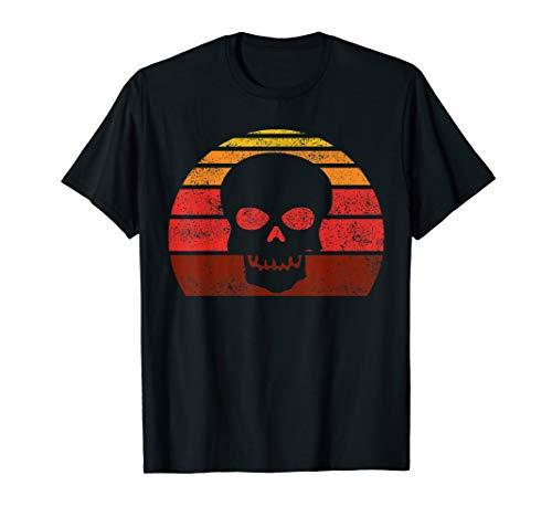 Retro Vintage Totenkopf Tattoo Kunst Halloween Geschenk T-Shirt