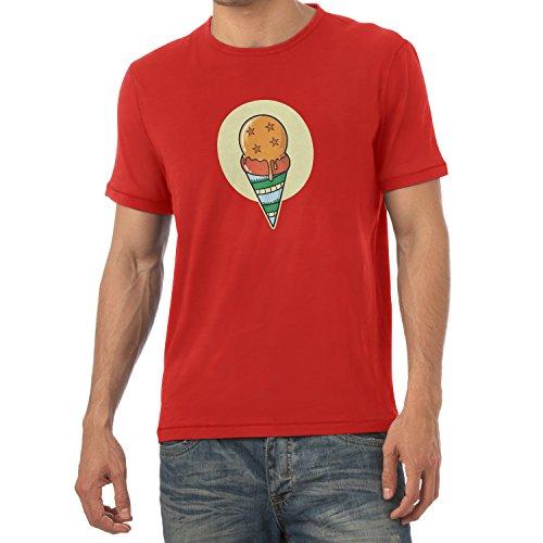 NERDO heren Dragon Ice Cream T-shirt, rood, M