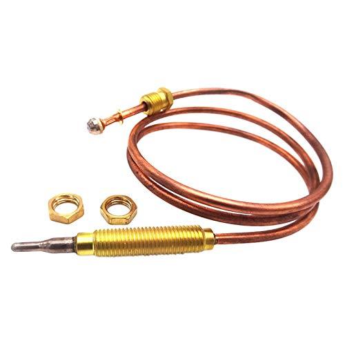 Universal-Gasthermoelement 24-Zoll-Gasherd Universal-Thermoelement-Kaminersatz für BBQ-Grill-Gaswarmwasserbereiter, M8x1-Endmutter und Kopfspitze
