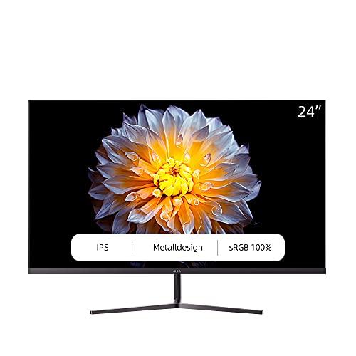 CHiQ LED-IPS-Monitor 5 ms, 3-seitig, Rahmenlos und ultraschlank, HDMI-DP-Eingänge, USB nur zum Aufladen, Lowblue-Modus, flimmerfrei, Freesync ,VESA-kompatibel (24 Zoll, Full HD)