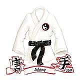 Personalized Karate Jacket Christmas Tree Ornament 2020 - Martial Art Athlete Belt Training Ying Yang Kick Hobby Child Chinese Kung Fu White Crane Grand-Kid Strike Gift Year - Free Customization